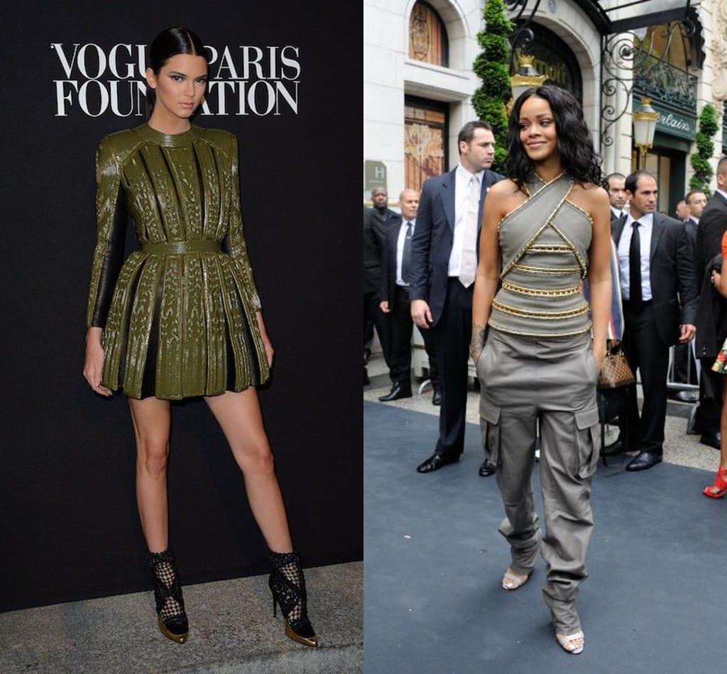 Kendall Jenner et rihanna ont opté pour une tenue signée Balmain