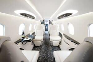 Intérieur jet privé