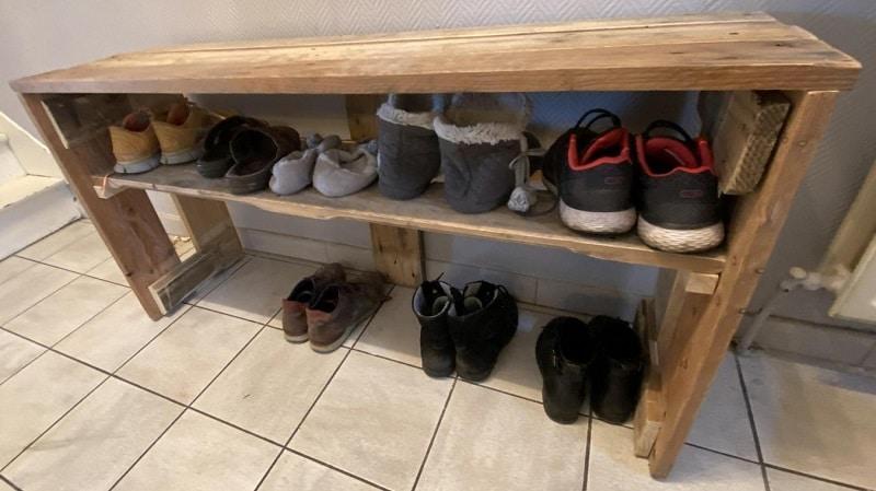 Comment faire un meuble à chaussure en palette