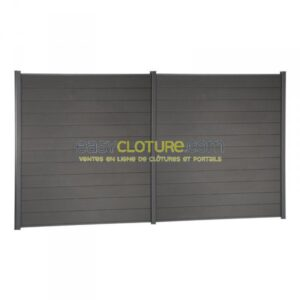 panneau de clôture composite gris anthracite