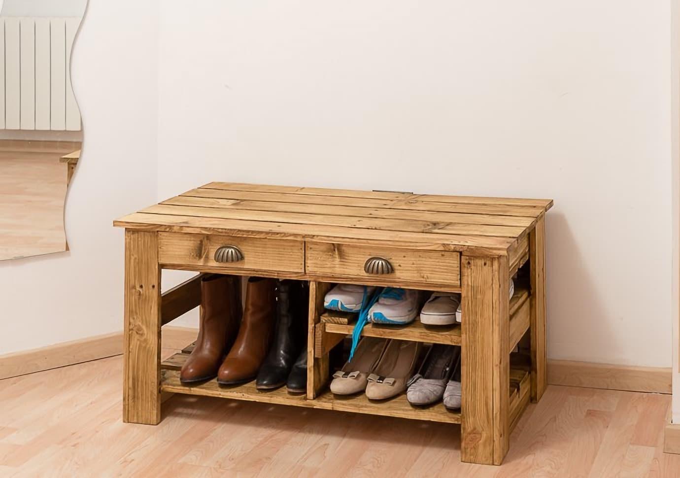 meuble en palette pour chaussures