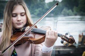 violoniste et son archet