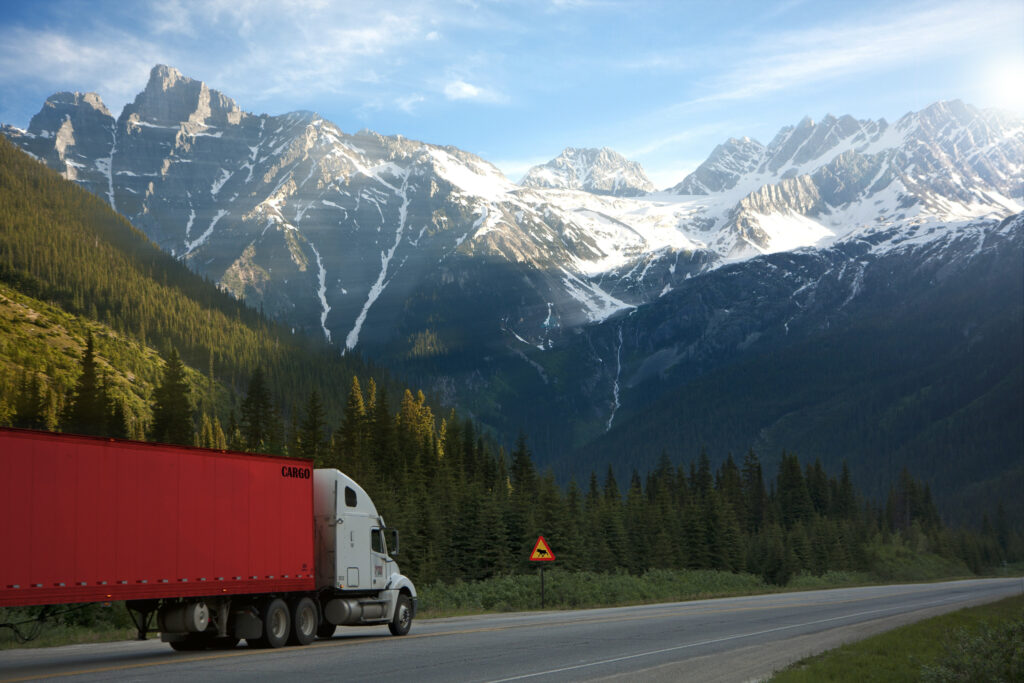 un camion sur la route